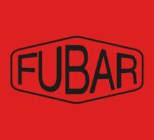 FUBAR logo - black contrast version Baby Tee