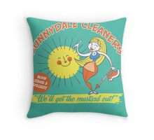 Sunnydale Cleaners Throw Pillow