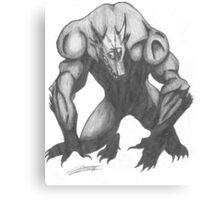 Werewolf Drawing Canvas Print