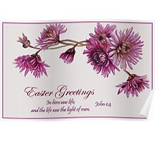 Easter Greeting Card Poster