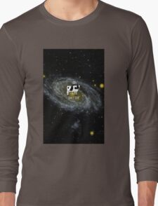 A cow become Space Junk at the Universe Long Sleeve T-Shirt