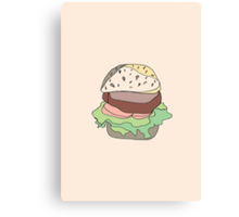Retro Abstract Burger Canvas Print