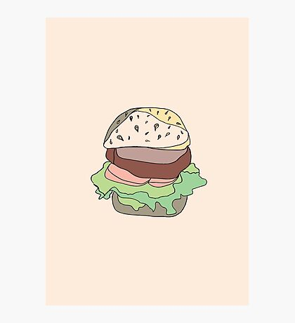 Retro Abstract Burger Photographic Print