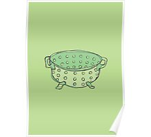 Retro Abstract Colander  Poster