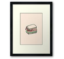 Retro Abstract Sandwich Framed Print
