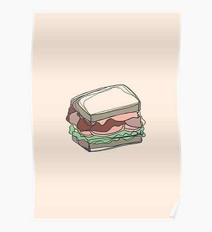 Retro Abstract Sandwich Poster