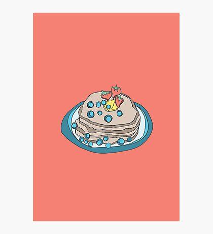 Retro Abstract Pancakes Photographic Print