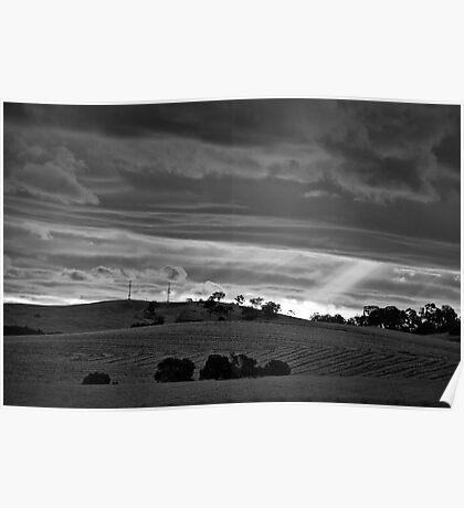 Sunburst through the cloud Poster
