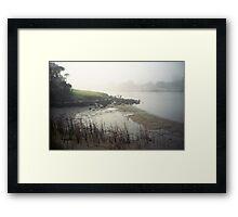 landscape in fog Framed Print