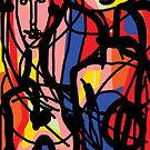 Colourful Couple  by Anthea  Slade