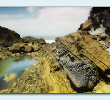 Rocks of colour 01 by kevin chippindall