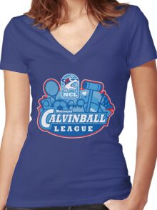 National Calvinball League Women's Fitted V-Neck T-Shirt