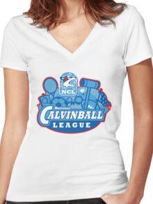 National Calvinball League Women's Fitted V-Neck T-Shirt