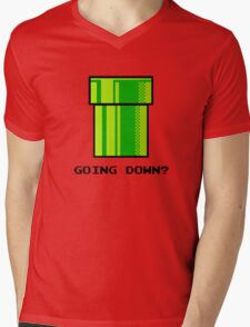 Nintendo 8-Bit Pipe NES SNES Mens V-Neck T-Shirt