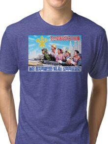 North Korean Propaganda - All Together Tri-blend T-Shirt