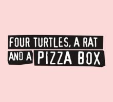 Four Turtles, a Rat and a Pizza Box Kids Clothes
