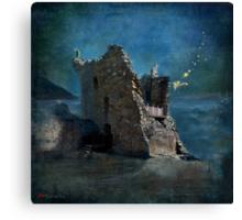 'The Castles Nighttime Secret' Canvas Print