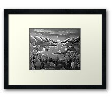 Evening Retreat in B&W Framed Print