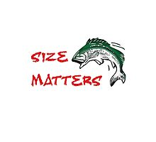 SIZE MATTERS FISHING T Photographic Print
