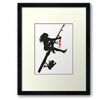 SEXY FISHING Framed Print