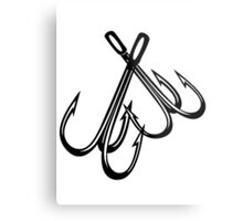 FISHING - HOOKS Metal Print