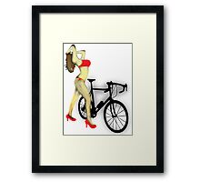 SEXY Cycle BIKE PRINT  Framed Print