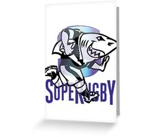 NATAL SHARKS SHARK ATTACK FOR SOUTH AFRICA RUGBY SUPER RUGBY Greeting Card