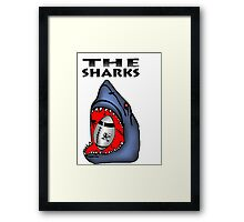 NATAL SHARKS SHARK ATTACK FOR SOUTH AFRICA RUGBY SUPER RUGBY Framed Print