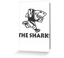 NATAL SHARKS FOR LIGHT SHIRTS SOUTH AFRICA RUGBY SUPER RUGBY Greeting Card