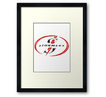 STORMERS DARK SHIRTS SOUTH AFRICA RUGBY WP PROVINCE Framed Print