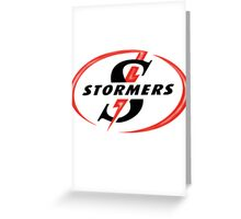 STORMERS SOUTH AFRICA RUGBY WP PROVINCE SUPER 15 RUGBY Greeting Card