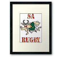 SPRINGBOK RUGBY SOUTH AFRICA  Framed Print