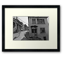 Urban Decay and Children Framed Print