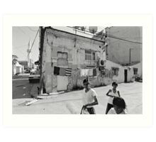Ege Neighborhood in Izmir, Turkey Art Print
