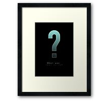 MGS - Huh? What was that noise? Framed Print