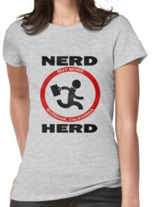 Chuck Nerd Herd Womens Fitted T-Shirt