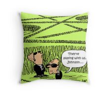 Crop noughts and crosses Throw Pillow
