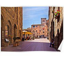 Morning in San Gimignano, Tuscany Poster