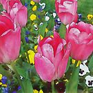 Family Of Tulips (Watercolor) by Jennifer Lam