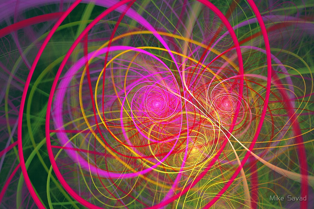 Fractal - Abstract - Loopy Doopy by Mike  Savad