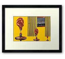 SEASIDE DINNER Framed Print