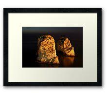 Night Shot - 02 - Beirut - Raouche - II Framed Print