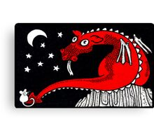 Little Red Dragon Canvas Print