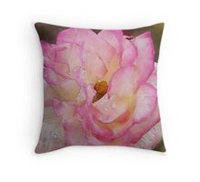 Blossoming Happiness (Watercolor) Throw Pillow