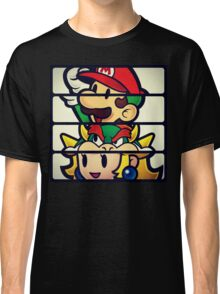 Nintendo Paper Mario Luigi Princess Bowser Classic T-Shirt