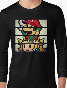 Nintendo Paper Mario Luigi Princess Bowser Long Sleeve T-Shirt