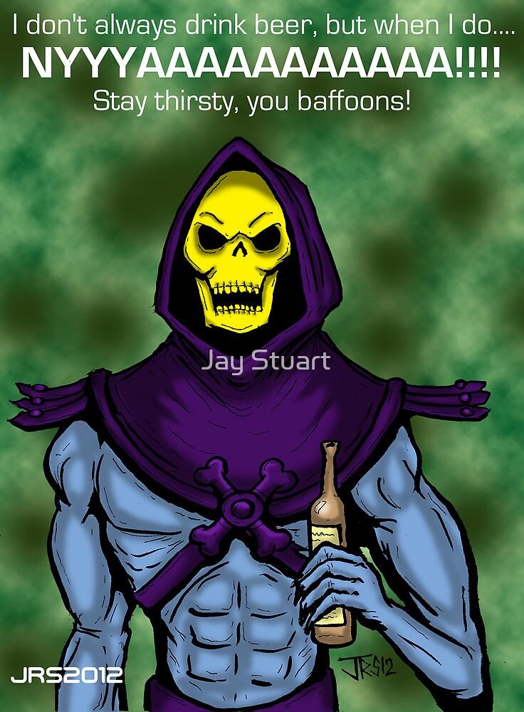 Skeletor likes Beer by Jay Stuart