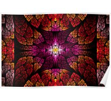 Fractal - Aztec - The all seeing eye Poster