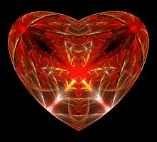 Fractal - Heart - Open heart by Mike  Savad