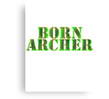 BORN ARCHER Canvas Print